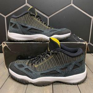 Air Jordan 11 Retro Low IE Black Zest Shoe Size 12